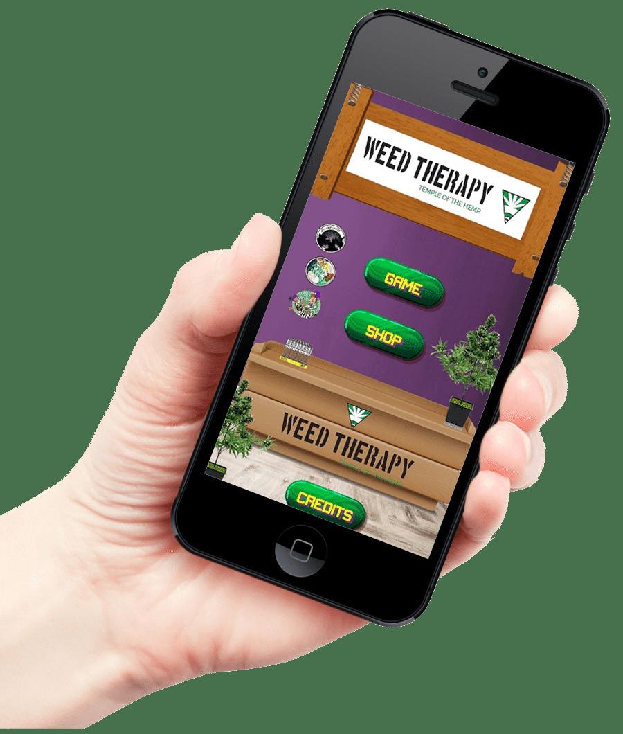 applicazione di weed therapy sul play store
