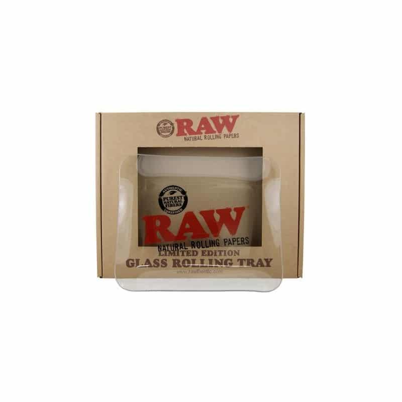 Vassoio in vetro del brand RAW in vendita su weed therapy